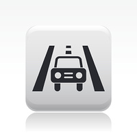 Vector illustration of single road car icon