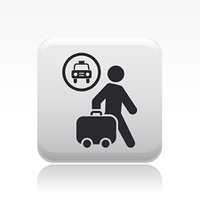Vector illustration of single taxi icon