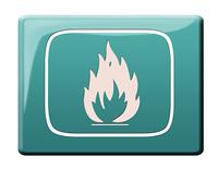 Feuergefahr Button
