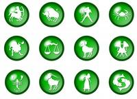 grune sternzeichen buttons - horoskop