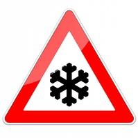 Schnee oder Eisglatte