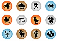 sternzeichen buttons - horoskop