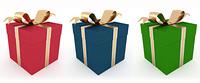 three gift box