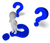 Question Marks Around Man Showing Confusion And Not Sure