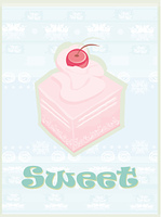 Lovely cake - Vintage Card Design