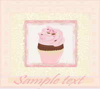 Lovely Cupcake Design card menu