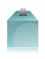 Ballot box isolated on white