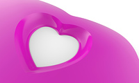 Pinke Herzform in 3D