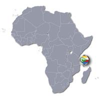 Afrikakarte mit Komoren
