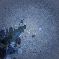 abstract grunge dark blue background with scratch and ink blots