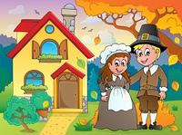 Thanksgiving pilgrim theme 5