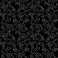 Monochrome starfish pattern