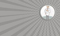 Business card Doctor Veterinarian Vet With Stethoscope Cartoon