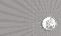 Business card Veterinarian Vet With Pet Dog Cartoon