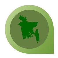 Isolated Bangladesh map marker pin