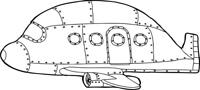 Outline of Empty Jetliner