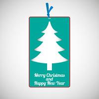 Paper cardboard Christmas card
