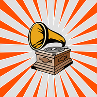 Phonograph with Sunburst