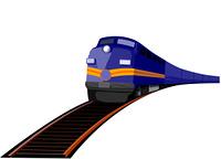 Train heading front