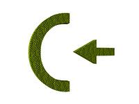 Symbol fur hinein freigestellt