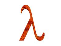 Griechische Buchstaben freigestellt