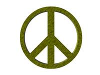 Friedenssymbol freigestellt