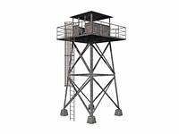 Wachturm aus Stahl freigestellt