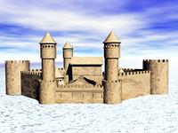 Burg mit Burgmauer