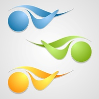 Abstract logo shapes template design