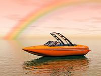 Rennboot auf dem Wasser