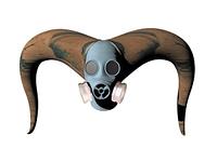 Gasmaske fur Mensch und Monster freigestellt