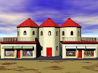 Villa mit Einkaufsladen
