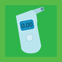Breathalyzer medical device for measuring the alcohol level