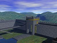 Festung im Gebirge