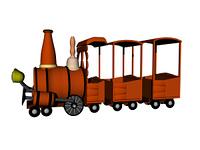 Spielzeug Lokomotive freigestellt