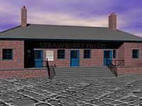 Bahnhof mit Bahnsteig