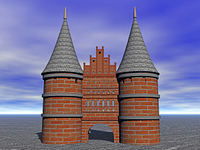 Holstentor in Lubeck