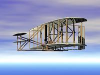 Doppeldecker Flugzeug der Gebruder Wright