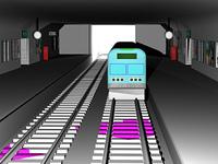 Eisenbahntunnel mit Bahnsteig