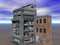 Altbau Hauser im Slum