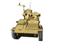 Panzer mit Kanone freigestellt