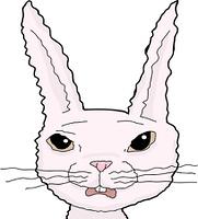 Scared Pink Rabbit