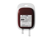 Blutkonserve freigestellt