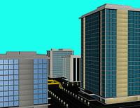 Skyline mit Hochhausern