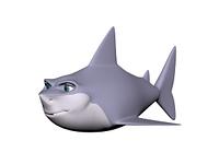 Haifisch freigestellt
