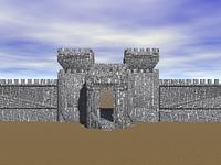 Stadtmauer mit Stadttor