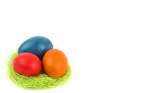 Easter eggs in the nest, a background