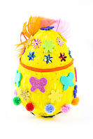 Easter egg on a white background