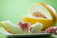 Honigmelone und Parmaschinken