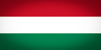 Hungary flag vignetted